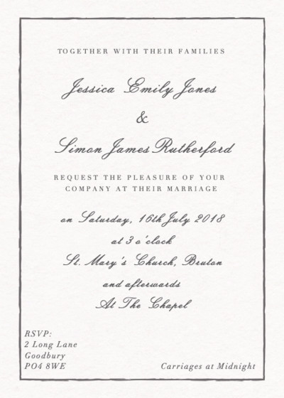 Sketch | Personalised Wedding Invitation