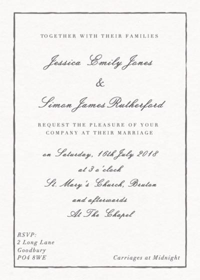 Sketch | Personalised Wedding Invitation
