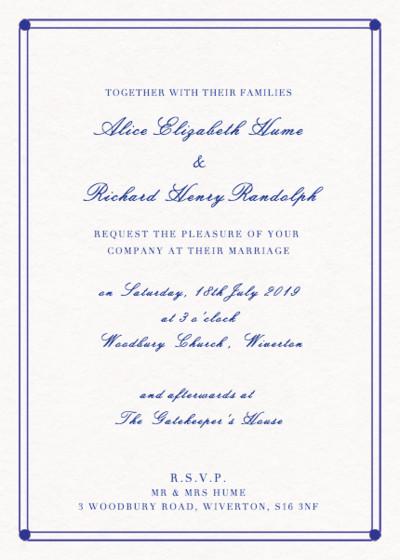 Deco Lines | Personalised Wedding Invitation