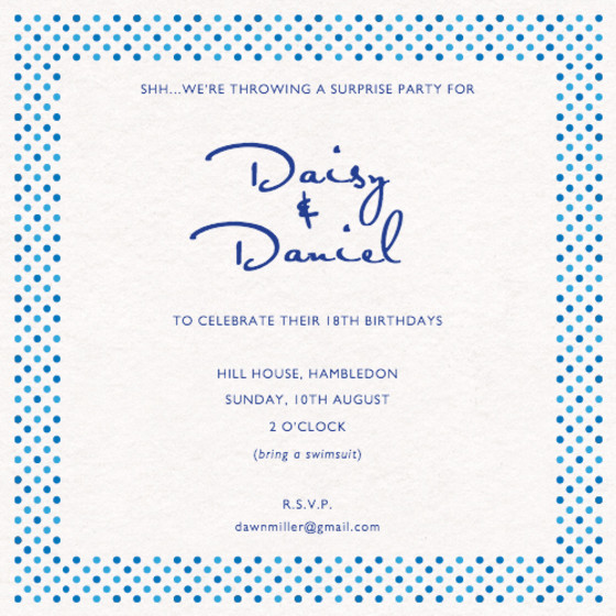 Dotty | Personalised Party Invitation