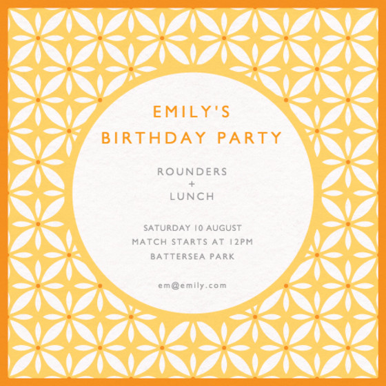 Eastern Pattern | Personalised Party Invitation
