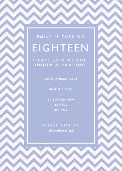Chevrons | Personalised Party Invitation