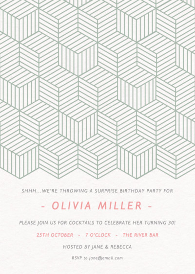 Escher Steps | Personalised Party Invitation