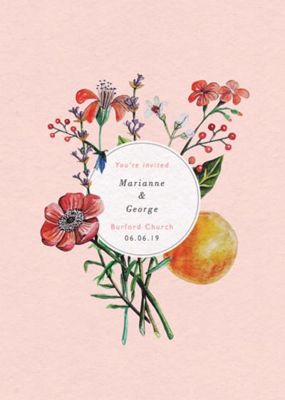 Wild Flowers   Personalised Wedding Invitation