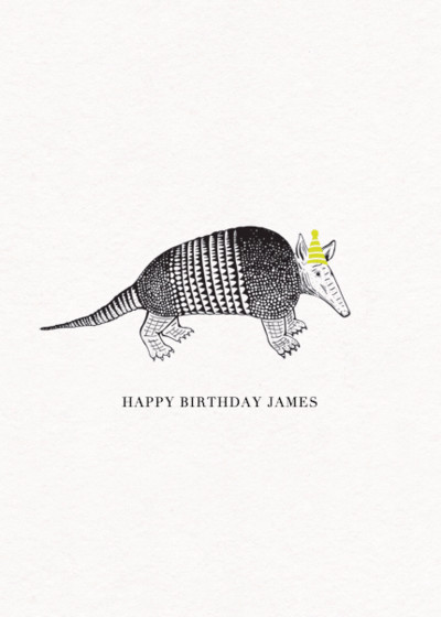 Armadillo | Personalised Birthday Card