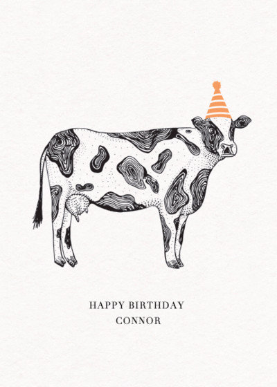 Cow | Personalised Birthday Card