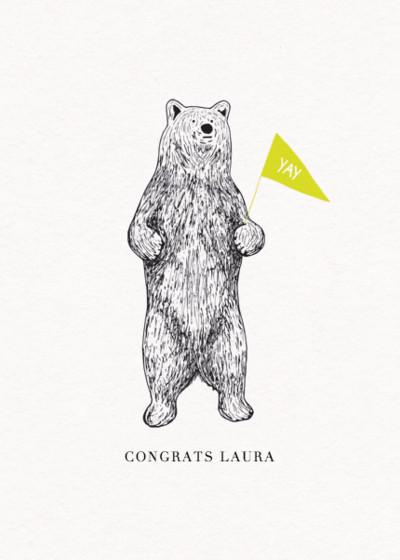 Bear | Personalised Congratulations Card
