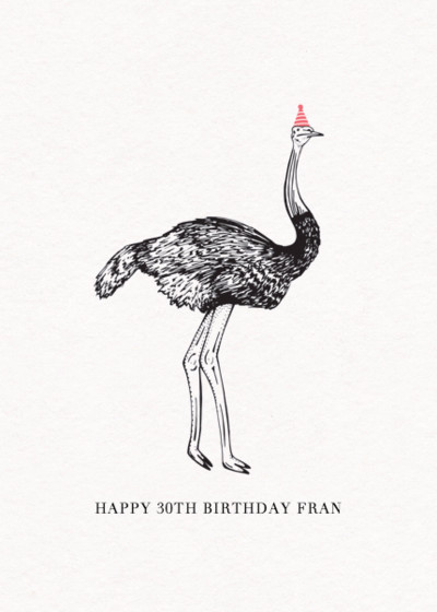 Ostrich | Personalised Birthday Card