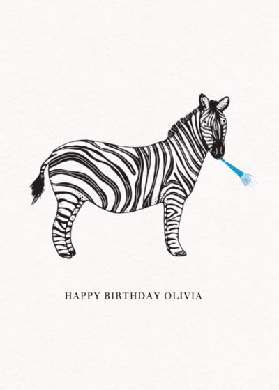Zebra | Personalised Birthday Card