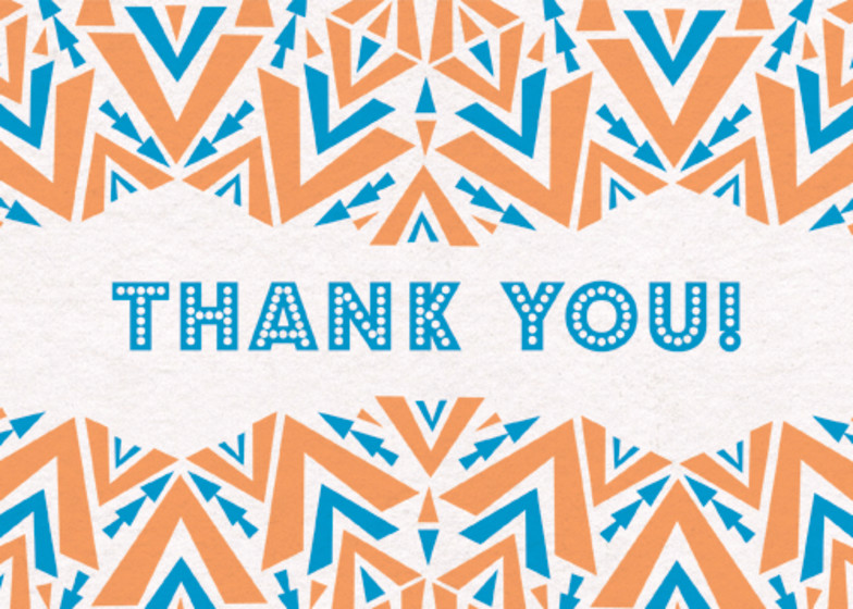 Geometric Arrows | Personalised Thank You Card