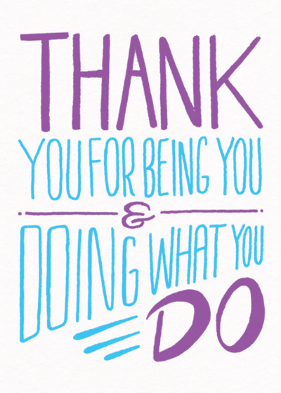 Being You | Personalised Thank You Card
