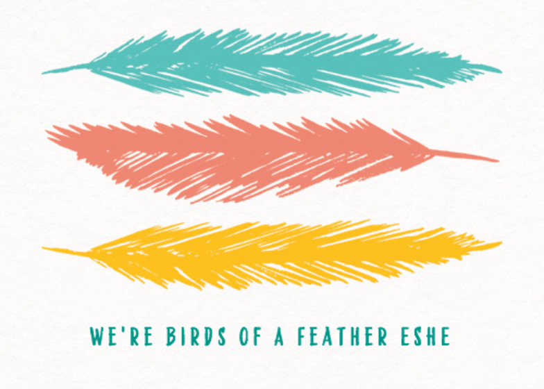 Feathers | Personalised Birthday Card