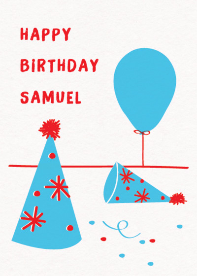 Party Hat | Personalised Birthday Card