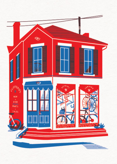 Bike Shop | Personalised Greeting Card