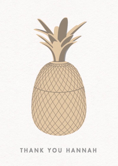 Golden Pineapple | Personalised Thank You Card