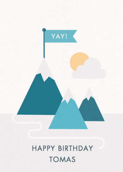 Mountains | Personalised Birthday Card