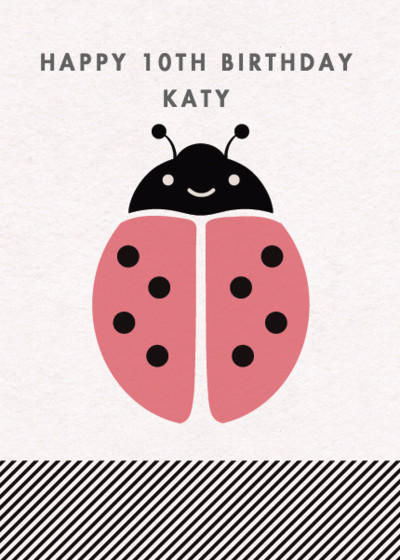 Ladybug   Personalised Birthday Card