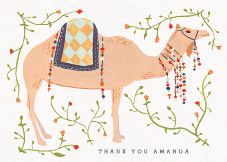 Eastern Camel | Personalised Thank You Card