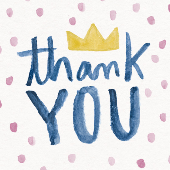 Thank You Crown | Personalised Thank You Card