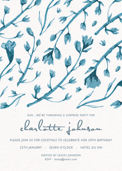 Painterly Florals | Personalised Party Invitation