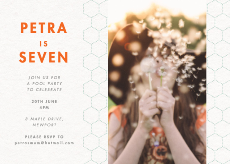 Honeycomb Photo | Personalised Party Invitation