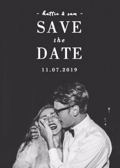 Portrait Photo | Personalised Save The Date