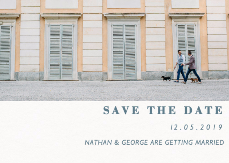 Landscape Split Photo | Personalised Save The Date