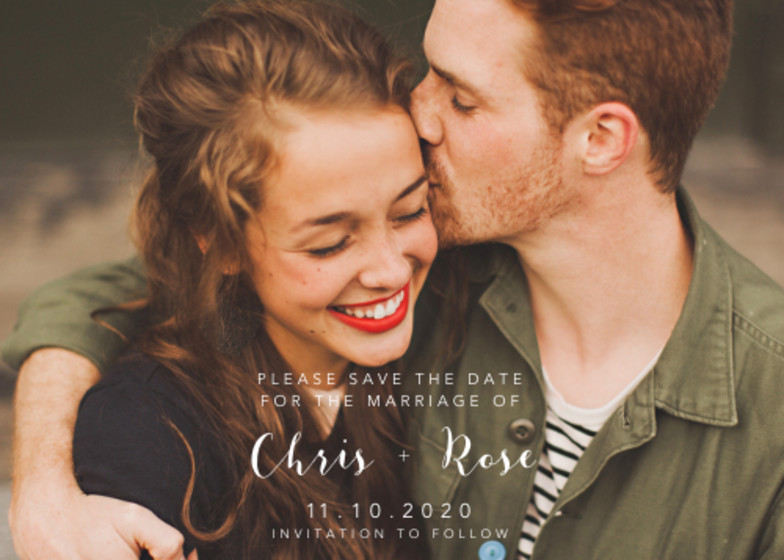 Landscape Photo | Personalised Save The Date