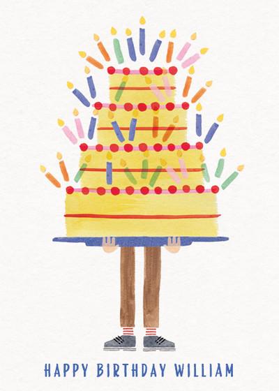 Biggest Birthday Cake   Personalised Birthday Card