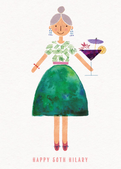 Cocktail Lady | Personalised Birthday Card