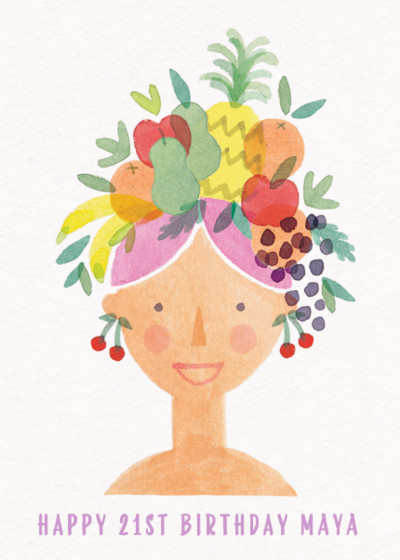 Fruity Lady | Personalised Birthday Card