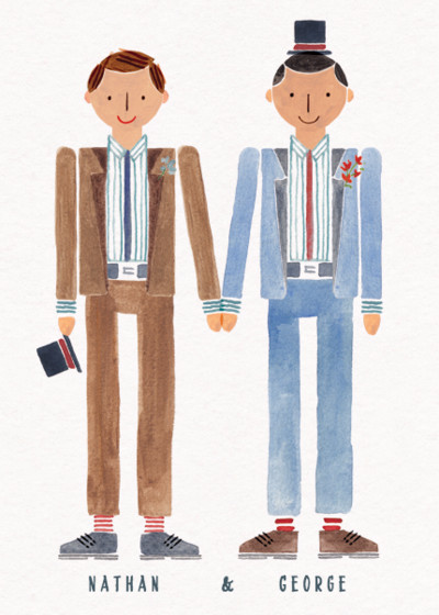 Wedding Couple Mr & Mr | Personalised Congratulations Card