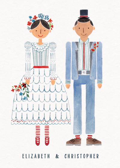 Wedding Couple Mr & Mrs | Personalised Congratulations Card