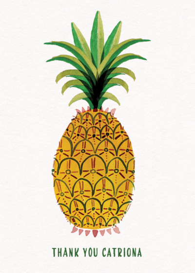Pineapple | Personalised Thank You Card