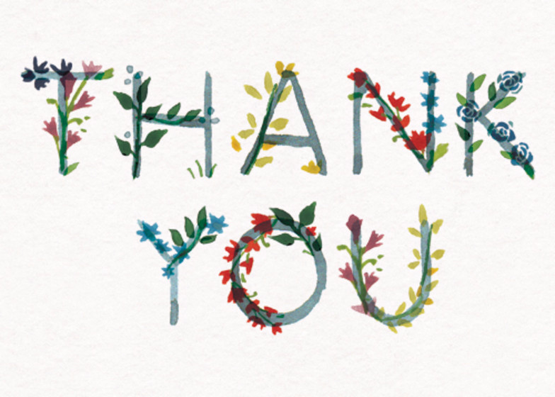 Thank You Floral | Personalised Thank You Card