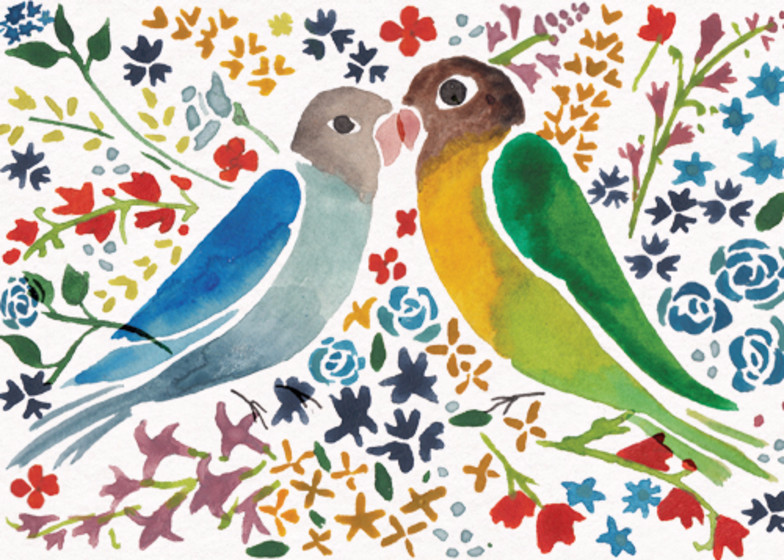 Love Birds | Personalised Congratulations Card