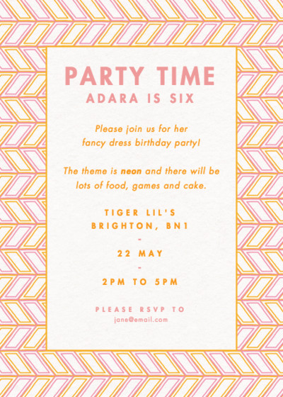 Cape Coral | Personalised Party Invitation