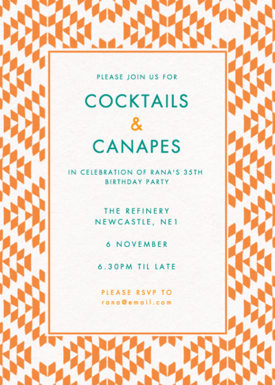 Scottsdale | Personalised Party Invitation
