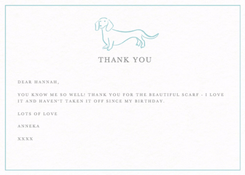 Dachshund | Personalised Thank You Card