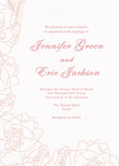 Peonies | Personalised Wedding Invitation