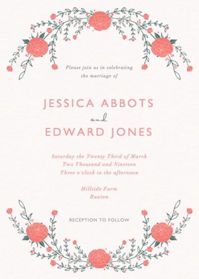 Roses | Personalised Wedding Invitation