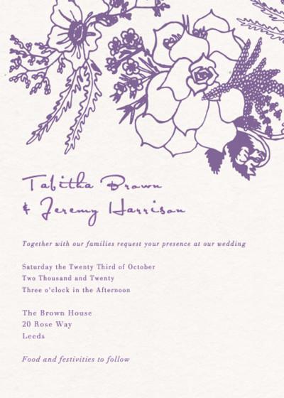 Autumn Bouquet | Personalised Wedding Invitation