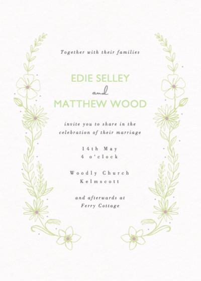 Summer Meadow   Personalised Wedding Invitation