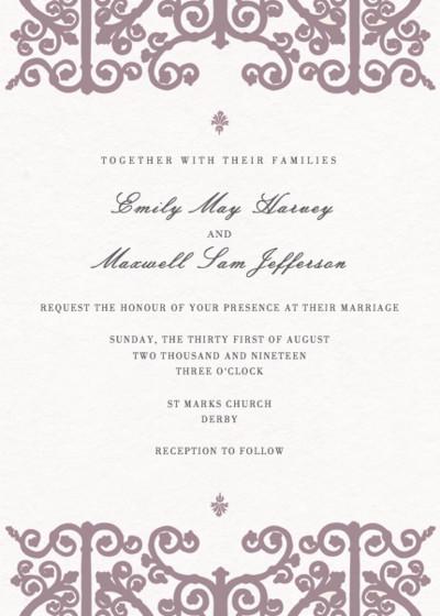 Baroque | Personalised Wedding Invitation