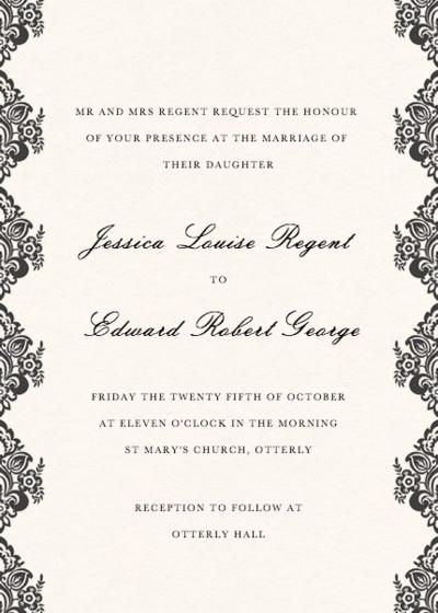 Classic Lace | Personalised Wedding Invitation