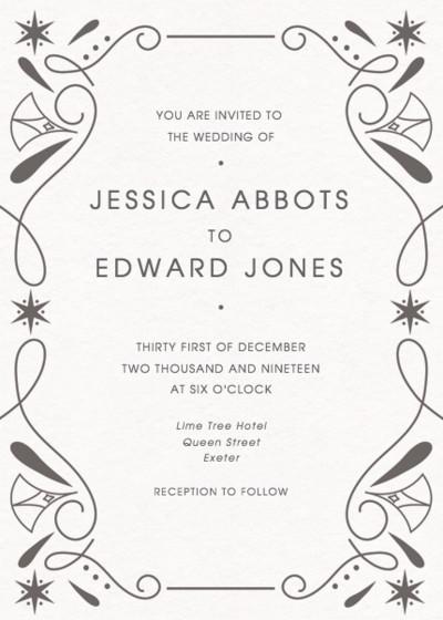 Deco | Personalised Wedding Invitation