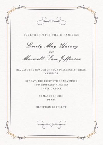 Filigree | Personalised Wedding Invitation