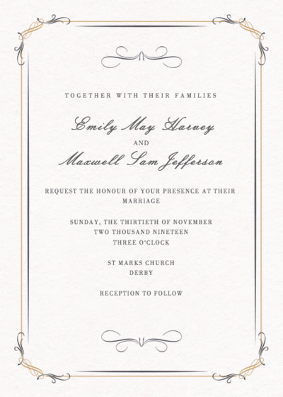 Filigree | Personalised Wedding Invitation
