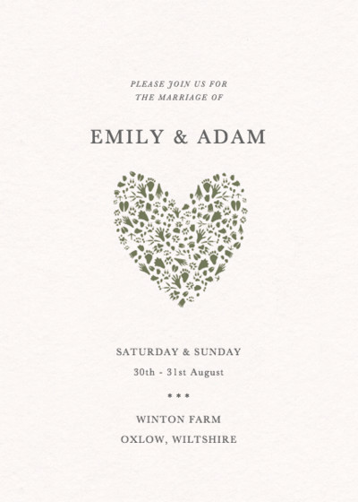 Woodland Tracks | Personalised Wedding Invitation
