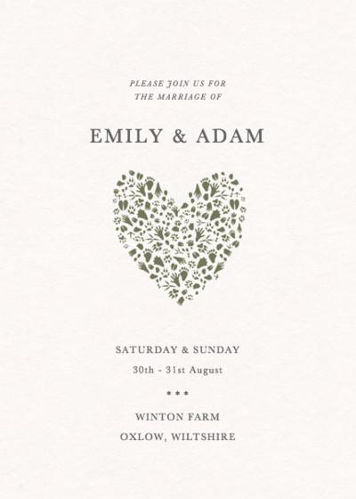 Woodland Tracks | Personalised Wedding Invitation